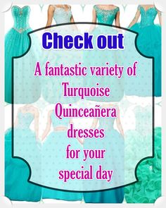 Turquoise Quinceanera dress - Probably the most vital planning actions for a Quinceanera party, if not the most crucial one, is the variety of the Quinceanera dress. Turquoise Quinceanera Dresses, Turquoise Dress, Quinceanera Party, All About Eyes, True Colors, Looking For Women, Dress For You, Beautiful Day, Dress Patterns
