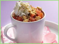 """If you haven't discovered Lisa Lillien's """"Hungry Girl"""" you are missing out!  This is Red Hot Apple Pie in a Mug and it's the sinfulness of Paula Deen and Pioneer Woman while being more health conscious!"""