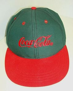 e08c3b8be2154 Vintage Snap Back Cap Trucker Hat Coca Cola Louisville MFG USA Green and  Red  CocaCola