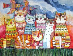 Happy Cats  by OXana  Zaika