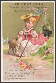 Mary w Little White Lamb Black Cat Advertising Confections Candies Sweets VTC | eBay