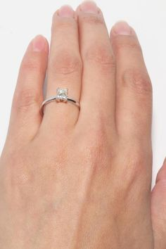Stunning solitaire engagement ring from James Allen… a girl can dream!