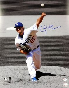 Clayton Kershaw Autographed Los Angeles Dodgers 16x20 Photo PSA/DNA ITP