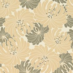 obi wallpaper in taupe/bronze from sanderson. pompom collection.