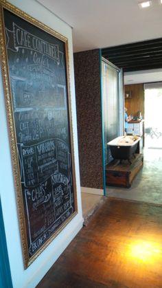 Café Container Container Van, Mini Cafe, Food Vans, Brunch, Food Truck, Chalkboard, Cafes, Chalk Board, Mobile Food Cart