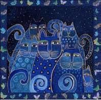 Cobalt blue + cats ! It's actually called Indigo Cats, but they are blue and I LOVE them!