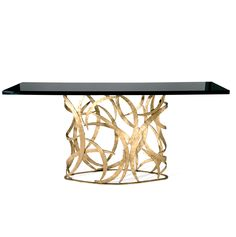 InStyle-Decor.com Beverly Hills Luxe Designer Metal Art Console Table Inspiring Interior Design Fans With Luxury Home Decor Ideas From Hollywood Enjoy & Happy Pinning