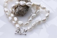 Pearl Necklace Freshwater Irregular large by KalitheoCreations