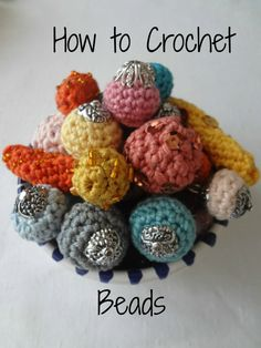 How to Crochet Beads PDF Crochet Pattern - crochet bead, how to make crocheted beads, crochet supplies, a photo tutorial