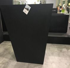Buy Tall Fiberstone Square Large Black cm Planter by Idealist Premium JUMBO from Currently in stock. Tall Outdoor Planters, Black Planters, Pottery Pots, Grain Texture, Lobbies, Hotel Lobby, Large Black, Outdoor Spaces, Planter Pots
