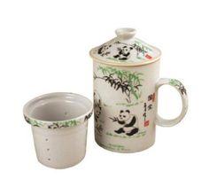 Oriental Tall Tea Cup with Filter - Panda by Dolls Unlimited Omaha - Oriental, http://www.amazon.com/dp/B00337OLKC/ref=cm_sw_r_pi_dp_.Tznqb1KRVMD7