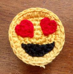 Conjunto de 3 imanes de Emoji de ganchillo by StringTheoryC | Etsy