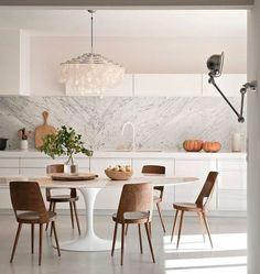 mesa saarinen marmore carrara sala jantar