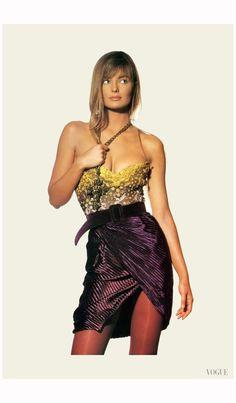 Models Paulina Porizkova US Vogue October 1989 Photo Irving Penn