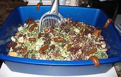 Cat litter cake...Next birthday cake for my older daughter and her kooky friends!