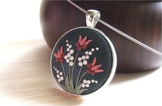 Tulip Flower Jewelry Floral Jewelry Floral Pendant by Floraljewel