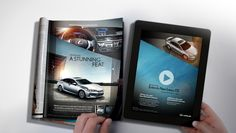 As more newspapers and magazines move online, there are worries that magazines and print advertising will become obsolete in the future.   However, a print advert from Lexus shows that print advertising can be just as, if not more, exciting and interactive as online advertising. This ad is a new type of print advert called CinePrint. By combing the use of technology (an iPad) and print advertising, Lexus have come up with a unique and stimulating advert:  http://youtu.be/640v8yBcXg8