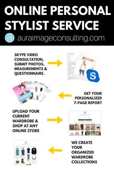 Step 1: Skype consultation and upload your current wardrobe. Step 2: We go shopping online, and I make outfits for you. You get a style report when your done! Check it out here: http://auraimageconsulting.com/online-stylist-service/ online stylist toronto