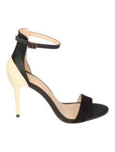 Metallic Gold Colour Contrast Heel Sandals   Jane Norman
