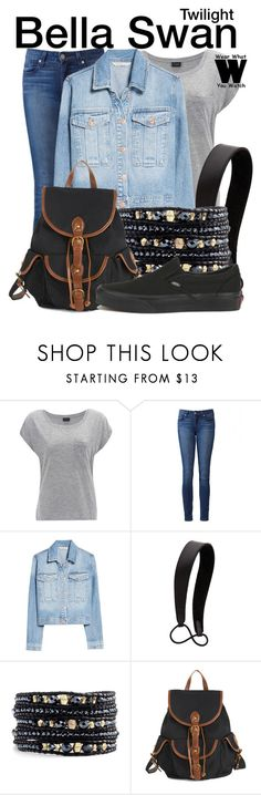 """""""Twilight"""" by wearwhatyouwatch ❤ liked on Polyvore featuring Paige Denim, MANGO, Jennifer Behr, Chan Luu, Vans, wearwhatyouwatch and film"""