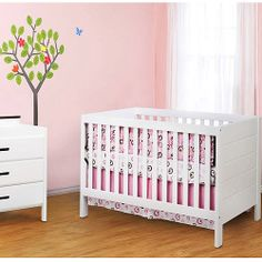 Baby Mod - Modena 3-in-1 Fixed-Side Convertible Crib, White