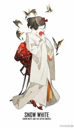 Các nhân vật công chúa, nữ hoàng, ... Disney trong trang phục Kimono.    Artist : STAR影法師 http://www.weibo.com/shadowmagician?is_all=1#_rnd1478961604163
