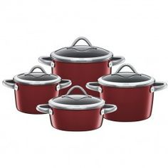 Silit Saucepan Set Vitaliano Rosso Set of 4 Rice Cooker, Slow Cooker, Casseroles, Induction Stove, Pot Sets, Happy Mothers Day, Crock, Kitchen Dining, Kitchen Appliances