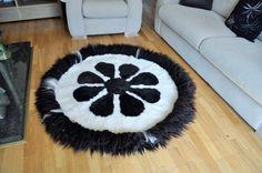 SHEEPSKIN RUG CARPET Fur Leather Rug by WoollyShepherdStore