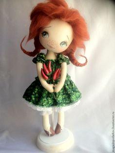 Купить Кукла интерьерная Перчинка - рыжий, кукла ручной работы, кукла в подарок, кукла текстильная