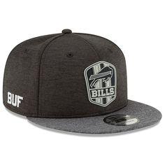 Men s Buffalo Bills New Era Heather Black Heather Charcoal 2018 NFL  Sideline Road Black 9FIFTY d715acea1