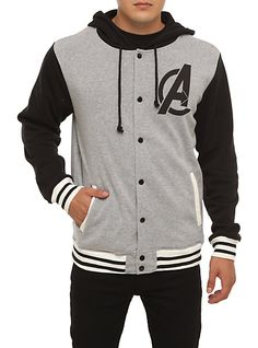 Marvel Universe The Avengers Varsity Hoodie | Hot Topic
