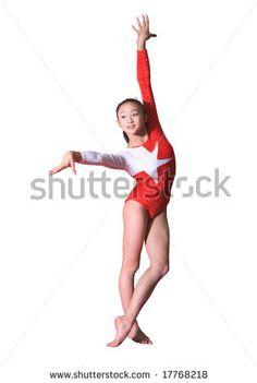 girl in gymnastics poses by Jiang Dao Hua, via ShutterStock