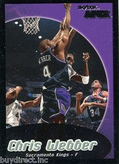 RARE 99/00 SKYBOX APEX CHRIS WEBBER SACRAMENTO KINGS MINT