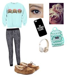 """Lazy day at school"" by lia-love3401 on Polyvore featuring Splendid, UGG Australia, JanSport and Casetify"