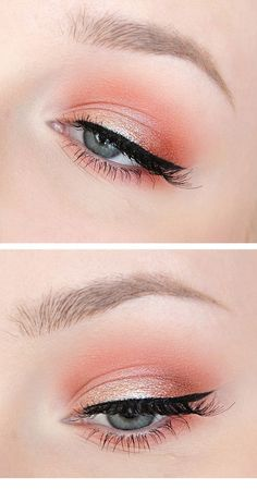 Ein großartiges Pink Eye Make-up - Natural Makeup Blue Coral Eye Makeup, Smokey Eye Makeup, Eyeshadow Makeup, Light Eye Makeup, Make Up Palette, Eyeliner, Mascara, Makeup Trends, Makeup Ideas