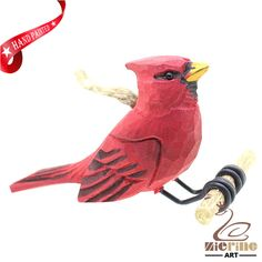 New listing! Hand-carved wooden parrot painted decorative wall carvings ZR10007 #ZL #Ornament