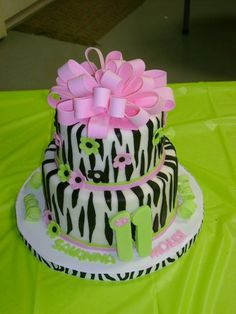 Squeel!!! (Who knew I would love pink and zebra stuff so much? Babies, man!) From cakecentral.com