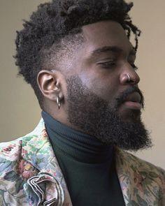Black Men Hairstyles, African Hairstyles, Hairstyles Haircuts, Haircuts For Men, Harry Samba, Dreadlocks Men, Men's Piercings, Afro Men, Fc B