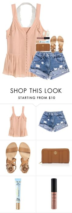 """clinging on to summer ☀️"" by hmcdaniel01 ❤ liked on Polyvore featuring H&M, Sol Sana, Tory Burch, Too Faced Cosmetics and Kendra Scott"