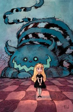 Alice in Wonderland:  #Alice and the #Cheshire #Cat, by Matthew S. Armstrong.