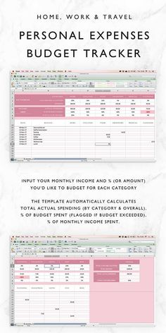 excel personal expense tracker by karthik templates pinterest
