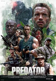 What's your favorite quote from Predator? Predator poster by David Benzal. Sci Fi Movies, Action Movies, Horror Movies, Good Movies, Comic Movies, 2018 Movies, Cult Movies, Best Movie Posters, Classic Movie Posters
