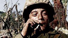 Rami Malek Smoking / The Pacific 2005