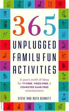 Sept - 365 Unplugged Family Fun Activities by Steven & Ruth Bennett - long list of travel games