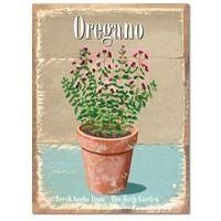 Vintage Style Oregano Tin Sign
