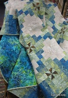 Ocean Tropics Quilt by bunkhousequilts - made for a couple married on the beach in Catalina [OMG!!! PERFECT COLORS!! If i had the money this lady would be commissioned to make my quilt.. just perfect!!]