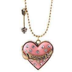 Fashion Lovely Pink Enamel Box Openable Heart Pendant Necklace fashion women cheap necklace wholesale 2015 new product(China (Mainland))