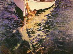 El bote blanco. Joaquín Sorolla