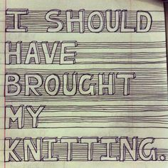 Knitting cartoons are too funny! - Knitting cartoons are too funny! Knitting Quotes, Knitting Humor, Crochet Humor, Knit Or Crochet, Knitting Projects, Crochet Projects, Knitting Patterns, Knitting Ideas, Knitting Club
