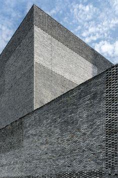 Architecture Design, Chinese Architecture, Contemporary Architecture, Minimalist Architecture, Stone Facade, Brick Facade, Atrium, Neri And Hu, Recycled Brick
